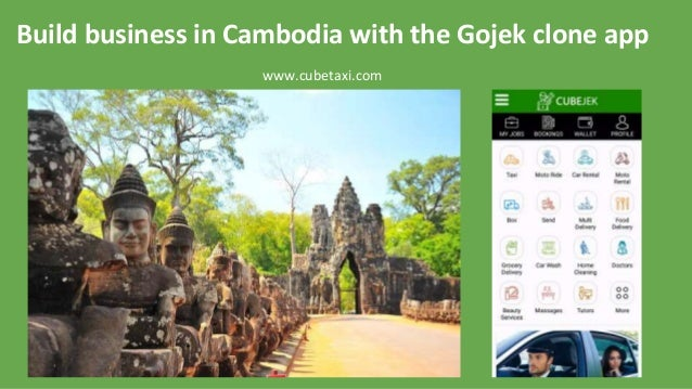 Build business in Cambodia with the Gojek clone app www.cubetaxi.com