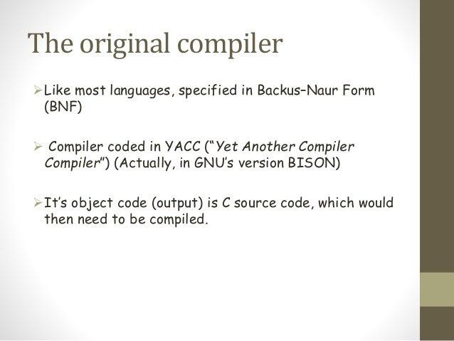 Let S Build A Compiler C Version