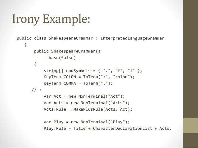Build A Compiler Using C Irony And Runsharp