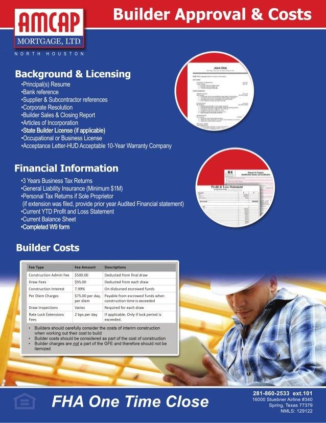 fha one time close construction loan program
