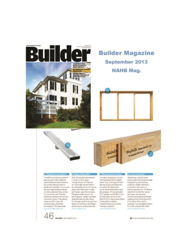 Builder magazine from hanley wood the official for Hanley wood magazines