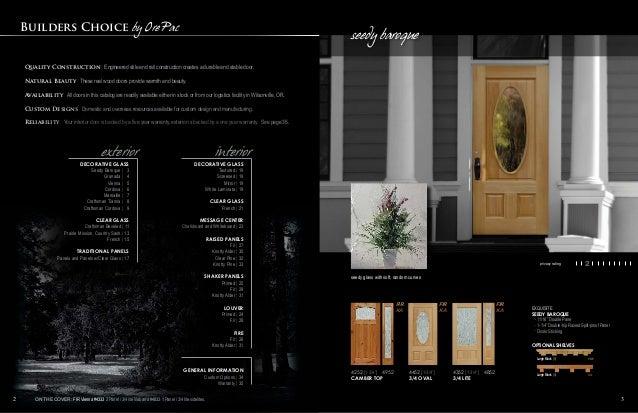 ... DOORS species and style guide; 2. & Builders Choice by OrePac Stile u0026 Rail Doors Catalog