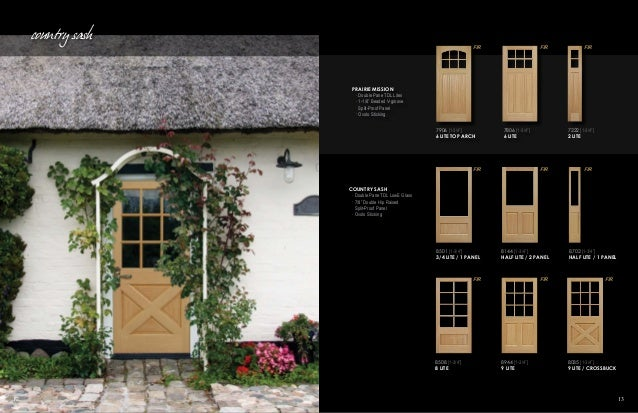 Builders choice by orepac stile rail doors catalog for 9 lite crossbuck exterior door