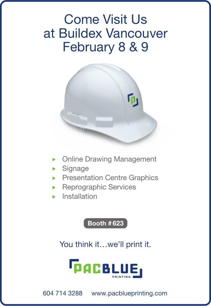 Come Visit Usat Buildex Vancouver   February 8 & 9