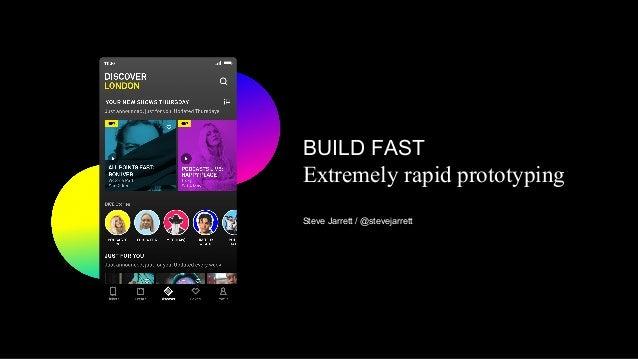 BUILD FAST Extremely rapid prototyping Steve Jarrett / @stevejarrett