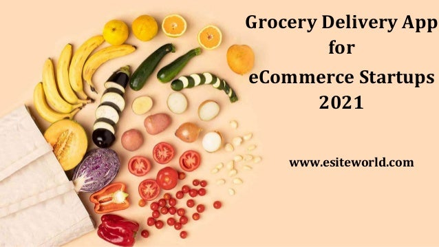Grocery Delivery App for eCommerce Startups 2021 www.esiteworld.com