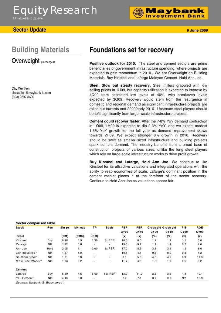 Building:Foundations set for recovery