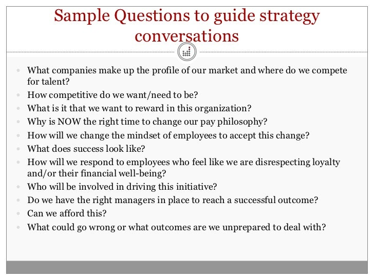 Building A Compensation Plan Part 1 Strategy Executive Support