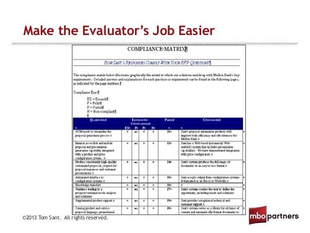 how to respond to compliance matrix