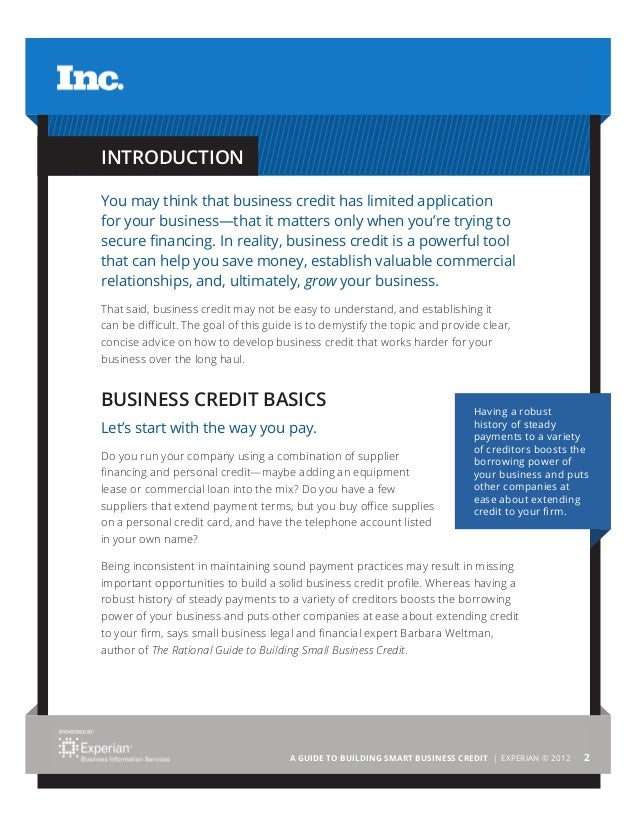A Guide To Building Smart Business Credit