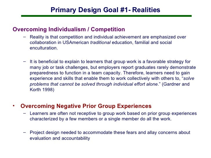 Building Community in the Online Classroom through Group Work Slide 3
