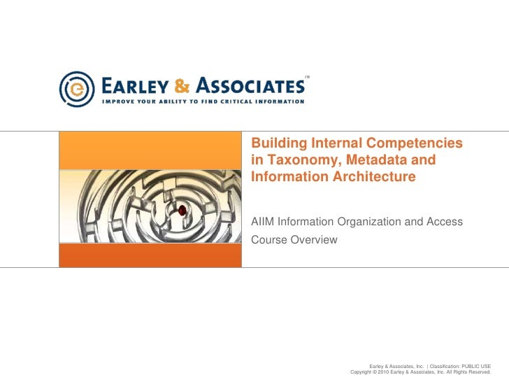 Building Internal Competencies in Taxonomy, Metadata and Information Architecture<br />AIIM Information Organization and A...