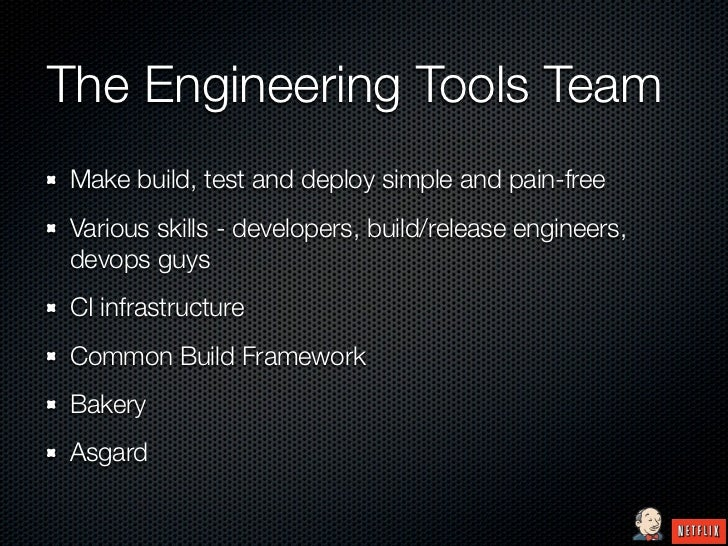 The Engineering Tools TeamMake build, test and deploy simple and pain-freeVarious skills - developers, build/release engin...