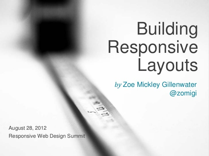 Building                               Responsive                                  Layouts                               b...