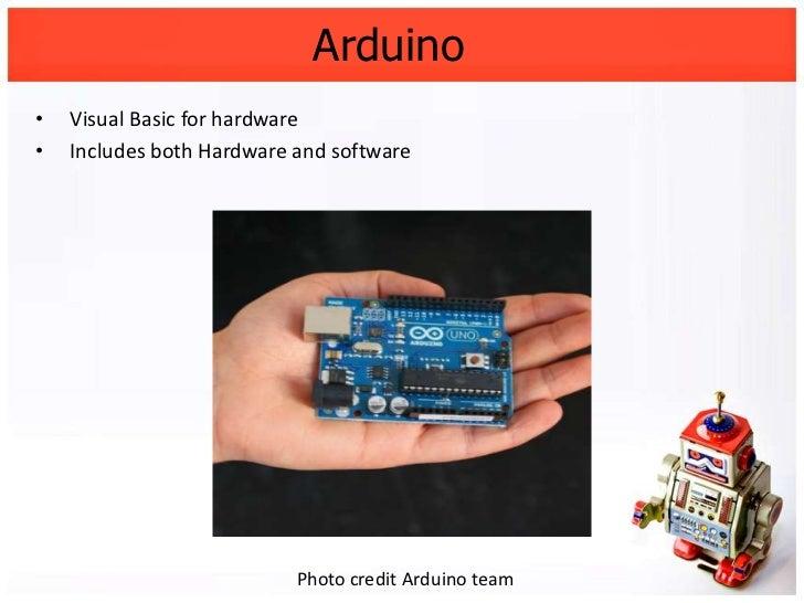 Arduino visual basic for hardware
