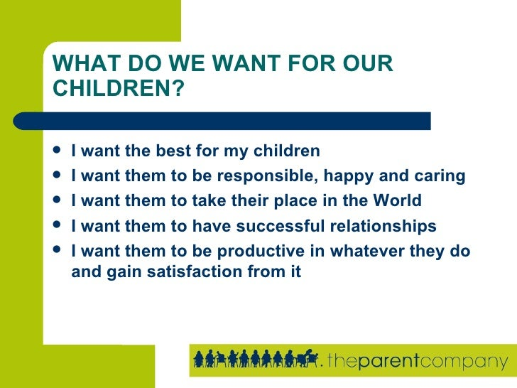 Building self esteem with your children presentation for What do i need to do to build a house