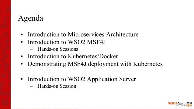 Building Services with WSO2 Microservices framework for Java and WSO2 AS Slide 2