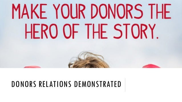 DONORS RELATIONS DEMONSTRATED