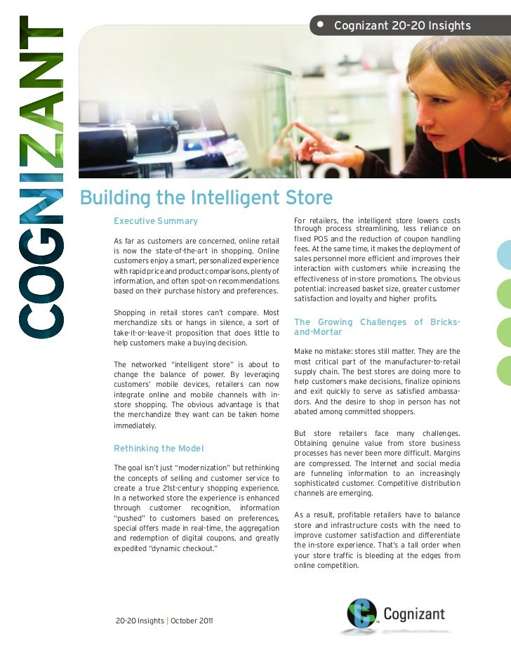 •     Cognizant 20-20 InsightsBuilding the Intelligent Store    Executive Summary                                     For ...