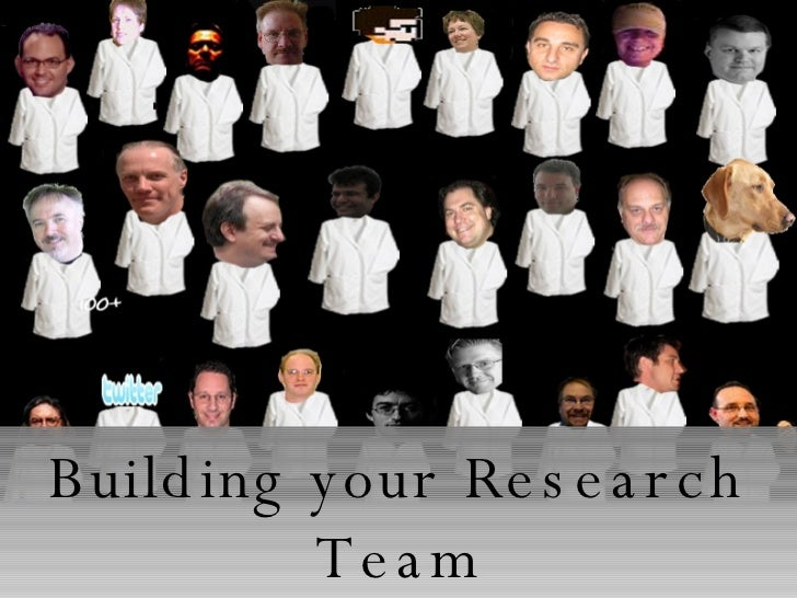 Building your Research Team One Man's Journey into Connected Learning