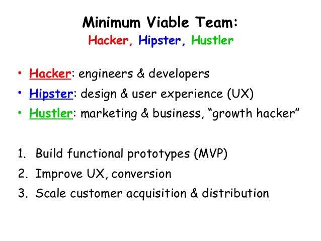 Minimum Viable Team: Hacker, Hipster,