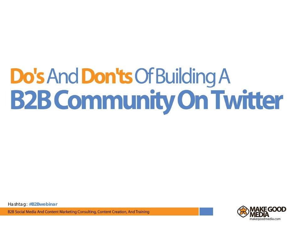 Hashtag: #B2Bwebinar