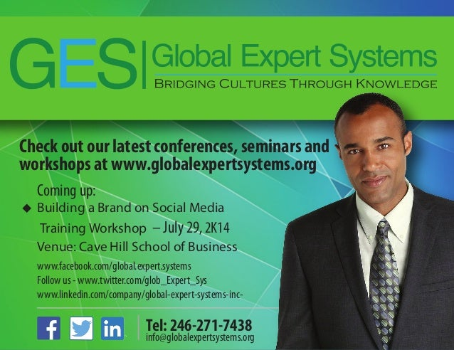 Check out our latest conferences, seminars and workshops at www.globalexpertsystems.org www.facebook.com/global.expert.sys...