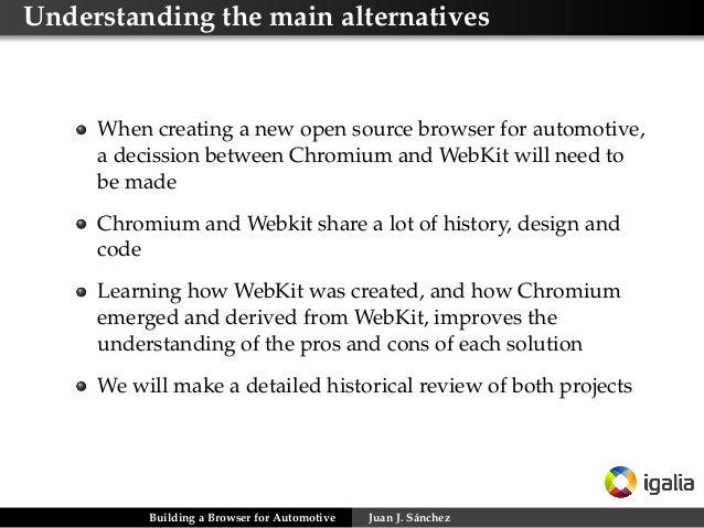 Building a browser for automotive  alternatives, challenges