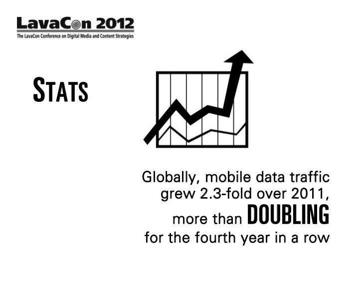 STATS              In 2011, mobile data traffic               was  8 TIMES     the size of        the entire global Intern...