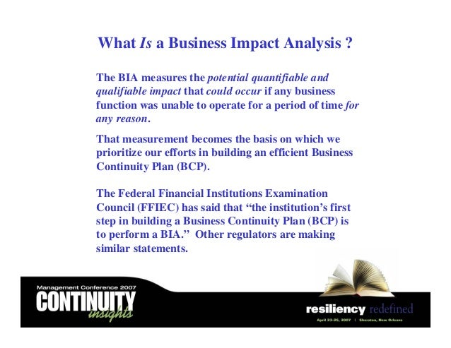 Building A Business Impact Analysis Bia Process A Hands On Blueprint