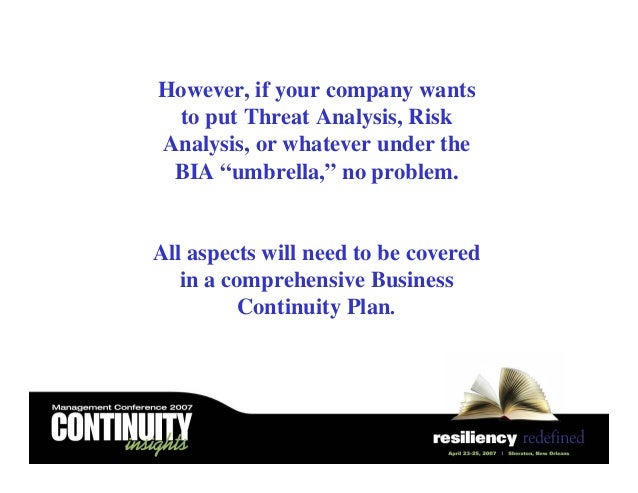 10 things you should cover in your business continuity plan