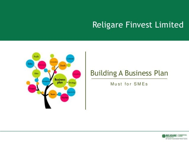 Religare Finvest Limited Building A Business Plan M u s t f o r a n S M E