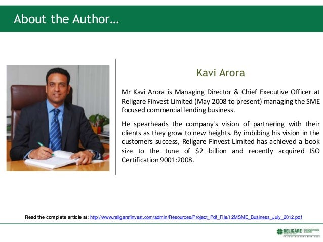 Kavi Arora Mr Kavi Arora is Managing Director & Chief Executive Officer at Religare Finvest Limited (May 2008 to present) ...