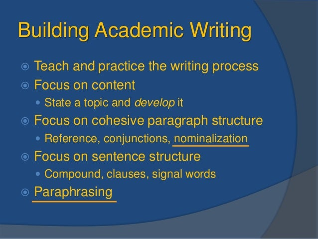 Nominalizations in academic writing