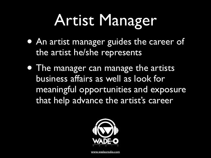 artist manager - What Is A Artist Manager