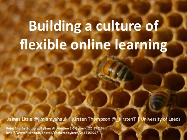 Building a culture of flexible online learning James Little @jimjamyahauk | Kirsten Thompson @_KirstenT | University of Le...