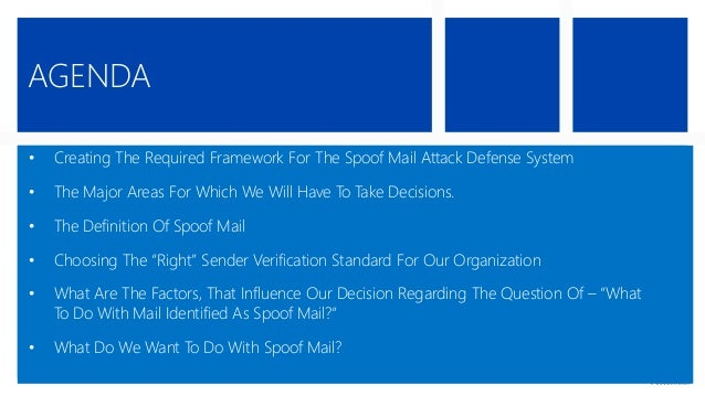 Building a defense system that will protect us from spoof mail attacks   part 7#9 | Eyal Doron | o365info.com Slide 2