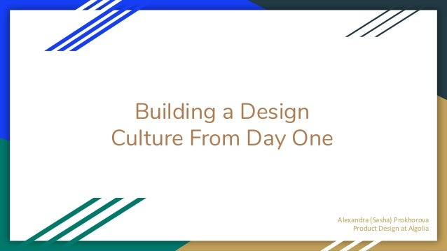 Building a design culture from day one
