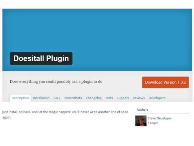 Building a developer friendly plugin - WordCamp Chicago 2017 Slide 3