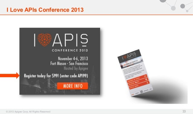 I Love APIs Conference 2013  © 2013 Apigee Corp. All Rights Reserved  33
