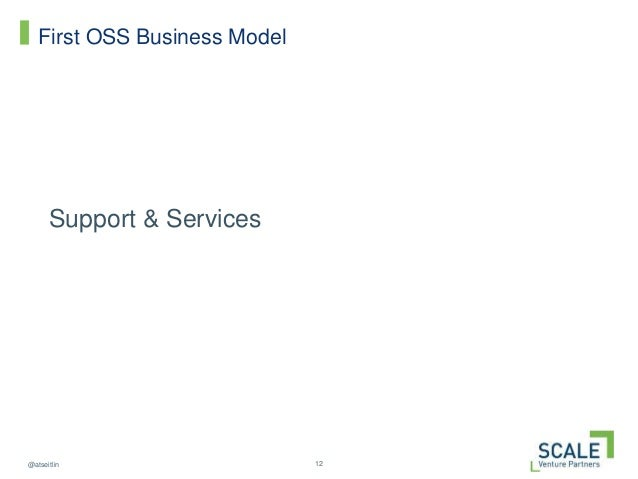 12@atseitlin First OSS Business Model Support & Services