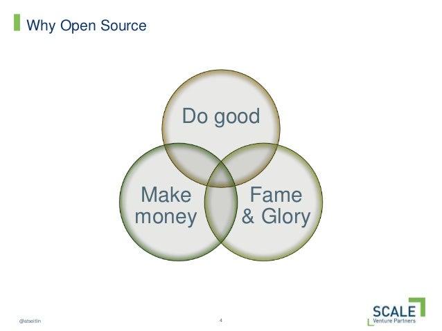 4@atseitlin Why Open Source Do good Fame & Glory Make money