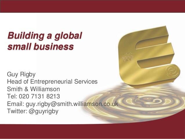 business planning for entrepreneurs rigby guy