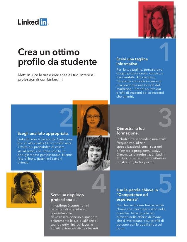 1 2 3 4 5 Dimostra la tua formazione. Includi tutte le scuole o università frequentate, oltre a specializzazioni, corsi, s...