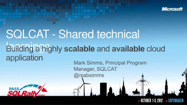SQLCAT - Shared technicallearnings