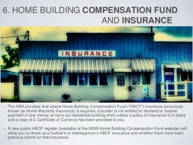 Home Building Insurance Fair Trading