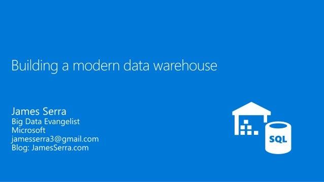 About Me  Microsoft, Big Data Evangelist  In IT for 30 years, worked on many BI and DW projects  Worked as desktop/web/...