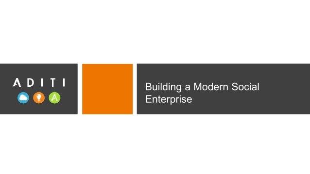 www.aditi.com 2 AGENDA Digital Revolution and Trends Building a Modern Social Enterprise Companies are driving business ou...