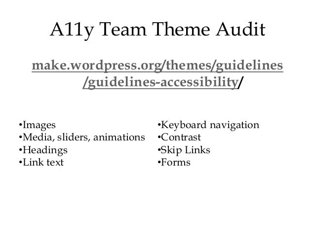 A11y Conference Talk: Building an Accessible WordPress Theme - 웹