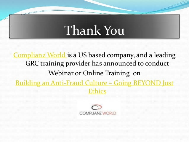 Best option for conducting anit-fraud training